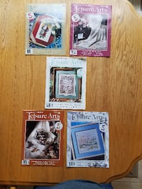 1990-91 Vintage Counted Cross Stitch Magazines from Leisure Arts Chesterfield