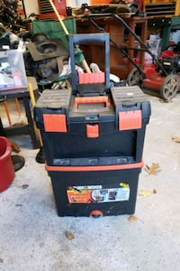 Black and decker pull tool box.  If you see it, it's still available Wayne