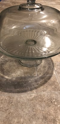 Round clear glass bowl with lid Nashville, 37013