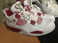 White-and-red air jordan 4 shoes Toronto, M9A 4S7