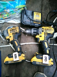 Hammer drill/driver and impact gun set for sale