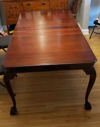 Solid Mahogany Wood Chippendale Dining Table Set