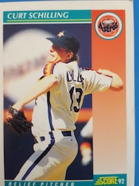 Score 92 Curt Schilling Astros Relief Pitcher trading card Lantana, 33462