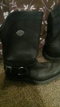 Womens all leather harley davidson boots