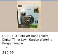 Orbit 1 Dial 1 Outlet Hose Faucet Model 56619 Lawn Garden Watering  South Gate