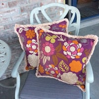 Embroidered Boho style pillow set