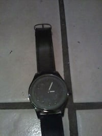 round black analog watch with black leather strap Bakersfield, 93305