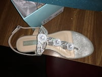 pair of white-and-brown sandals Cresson, 76035