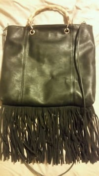 women's black leather shoulder bag Hamilton
