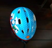 blue and red bicycle helmet 536 km