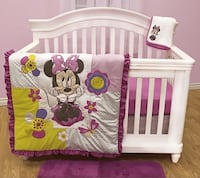Minnie Mouse Crib/Toddler Bedding set