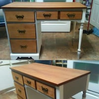 brown wooden single pedestal desk Lexington, 27292