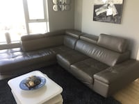 Ethan Allen Grey Leather Couch Sofa Vancouver, V6B 6L4