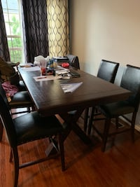 Large dining room table, with 6 chairs.  Broadlands, 20148