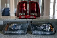OEM 2014 Dodge Ram 1500 Projector Headlights & 3rd Brake Light