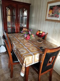 brown wooden dining table set Pawtucket, 02860