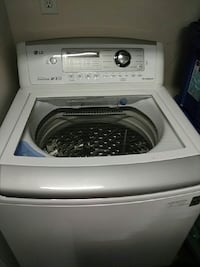 White LG top-load washer