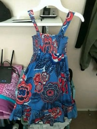 blue and red floral sleeveless dress Cottonwood, 96022