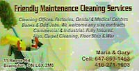 Friendly Maintance Cleaning Services - 25 Years Of Experience Toronto