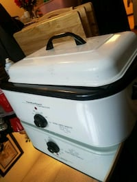 white and black Rival slow cooker Arlington, 12603
