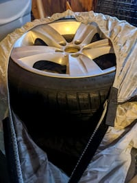 "18"" BMW 335i Rim Set with lightly used Continental All Weather Tires Middlesex County, 08879"