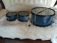 three blue-and-black checked snare drums Moreno Valley, 92553