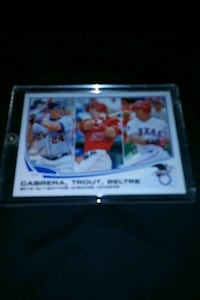 2013 TOPPS MIKE TROUT CABRERA BASEBALL CARD Upper Darby, 19026