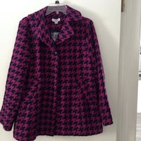 pink and black button-up coat Saginaw, 48602