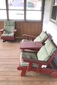 Outdoor patio bench and chair