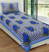 white, green, and blue bed bedding Delhi, 110009