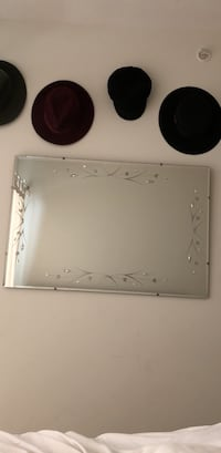 Vintage mirror with inlay detailing Vancouver, V5R