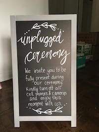 Double sided chalkboard. Great for weddings, parties, etc.  Ottawa, K2M 0H8