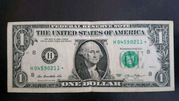 $1 Bill STAR NOTE (211*)