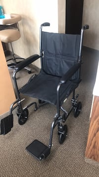 Black and gray folding wheelchair Huntington Beach, 92648
