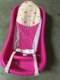 baby's pink and white bather 2301 mi