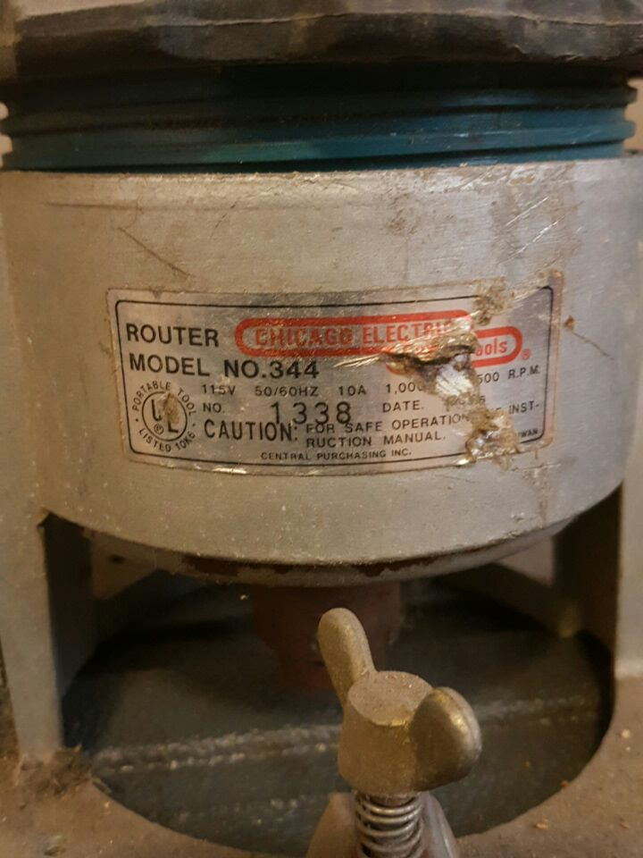 Used router chicago electric model no