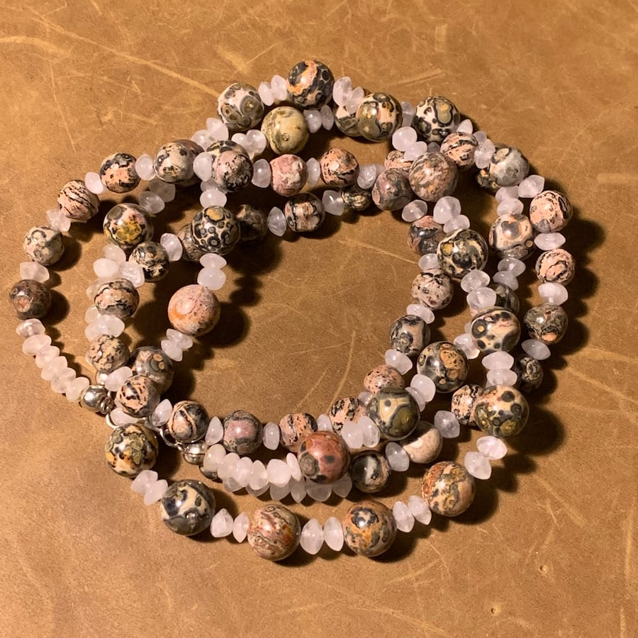 Genuine Agate Beaded Necklace with Sterling Silver Clasp 740307ab-0cb6-4953-87cb-2220f2c9c8cf