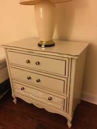 white wooden 3-drawer chest Alexandria