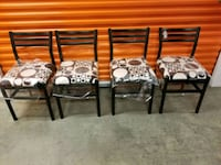 Four newly reupholstered black and white chairs Silver Spring, 20903