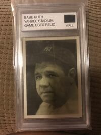 Babe ruth yankee stadium game used relic wall piece