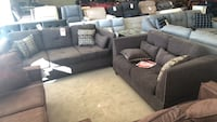 brown love seat and sectional Phoenix, 85018