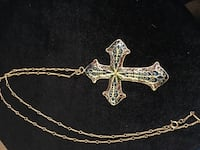 Fashion cloisonné cross necklace