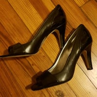 Black leather heels  Hagerstown, 21740