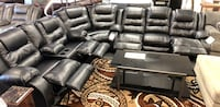 Black - chocolate leather sectional available reclining sectional recliner BIGSALE  Jacksonville, 32246