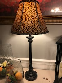 black and red table lamp Florence, 35633