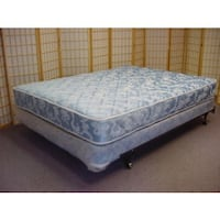 quilted blue and white floral mattress 10 mi