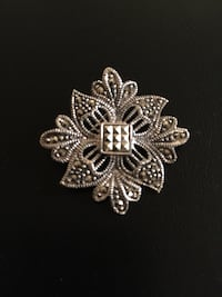 Marcasite Sterling Silver Brooch/Pin