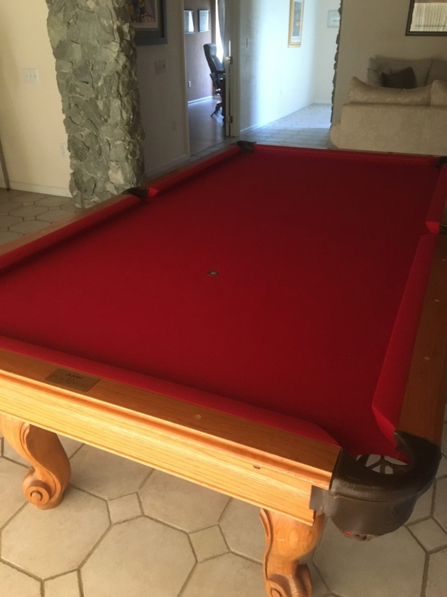 Used Reduced Amf Playmaster Pool Table With Accessories In