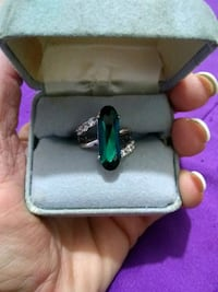 silver-colored and green gemstone ring Banning, 92220