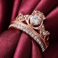 NWT Rose Gold Coloured Cubic Zirconia Princess Ring  Toronto, M6S